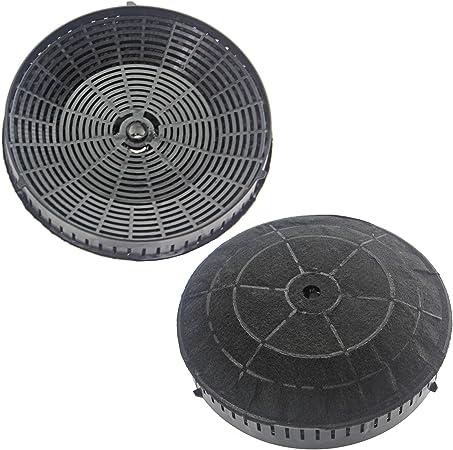 Spares2go redondo filtro de carbón par para Elica Campana Extractor de ventilación: Amazon.es: Hogar