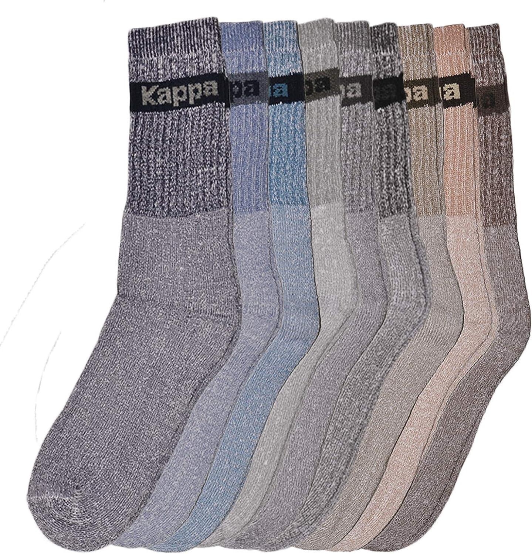 Kappa 9 paia di calze uomo sportive in cotone spugna morbide e resistenti in colori assortiti.