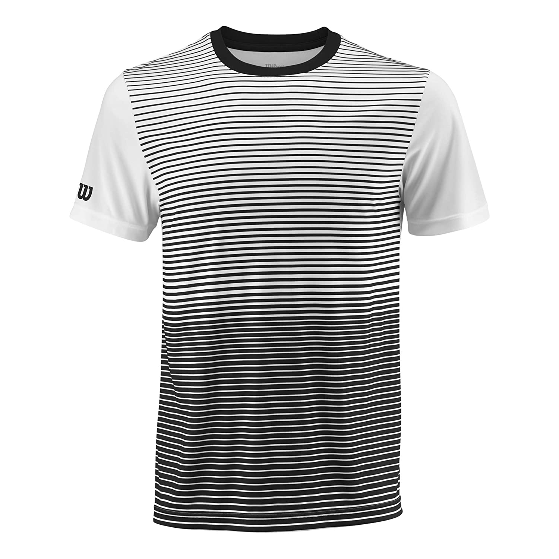 Wilson Team Striped Crew - Camiseta de Manga Corta Hombre