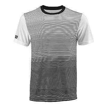 WILSON Team Striped Crew Camiseta de Manga Corta, Hombre: Amazon ...