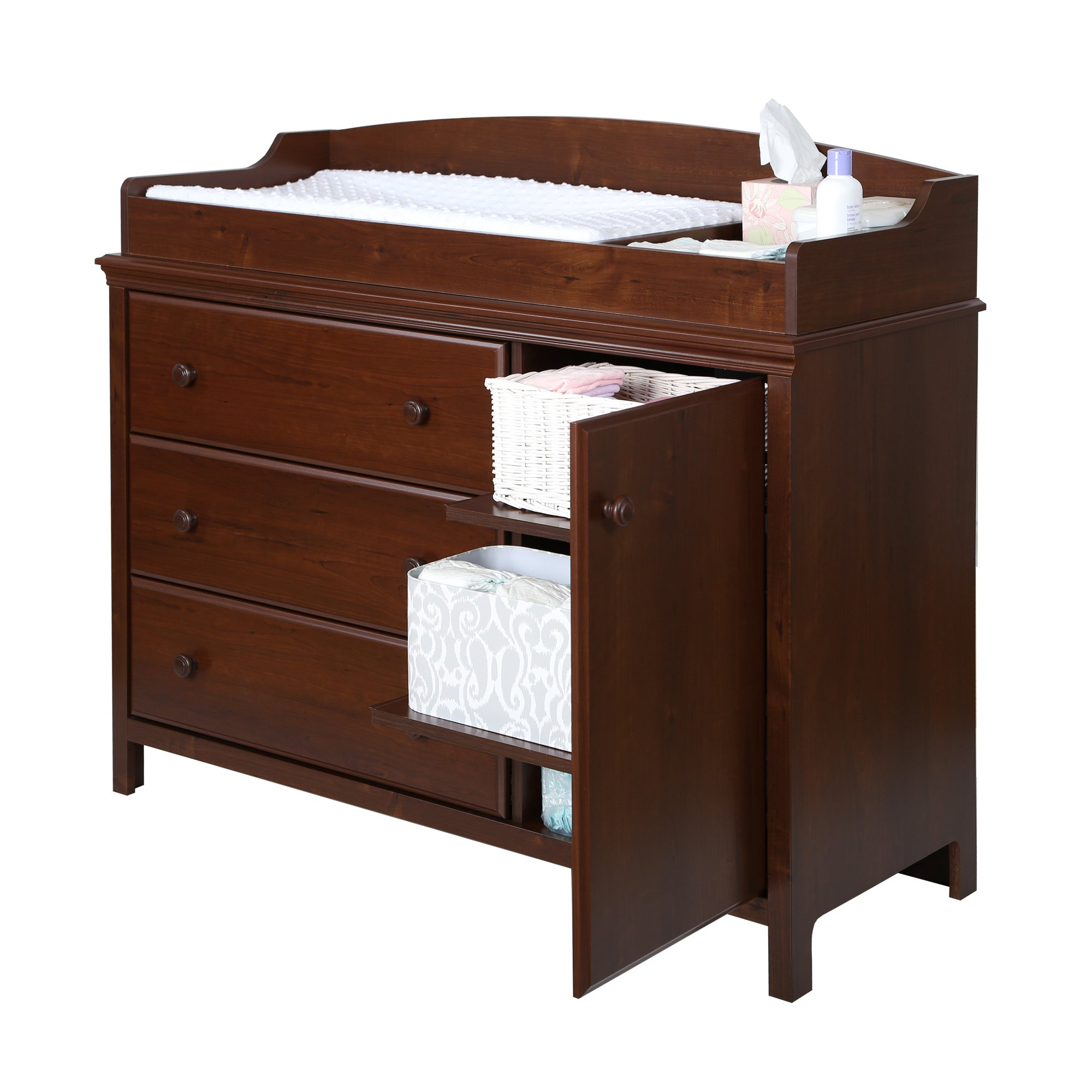 South Shore Cotton Candy Changing Table with Removable Changing Station, Sumptuous Cherry by South Shore (Image #1)