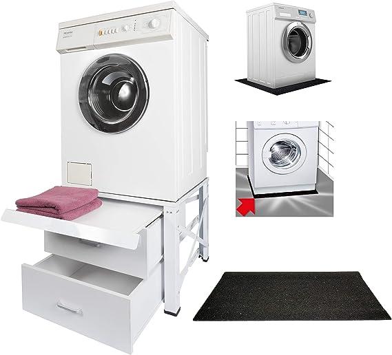 Estructura para lavadora extra alta con 2 cajones y extensible ...