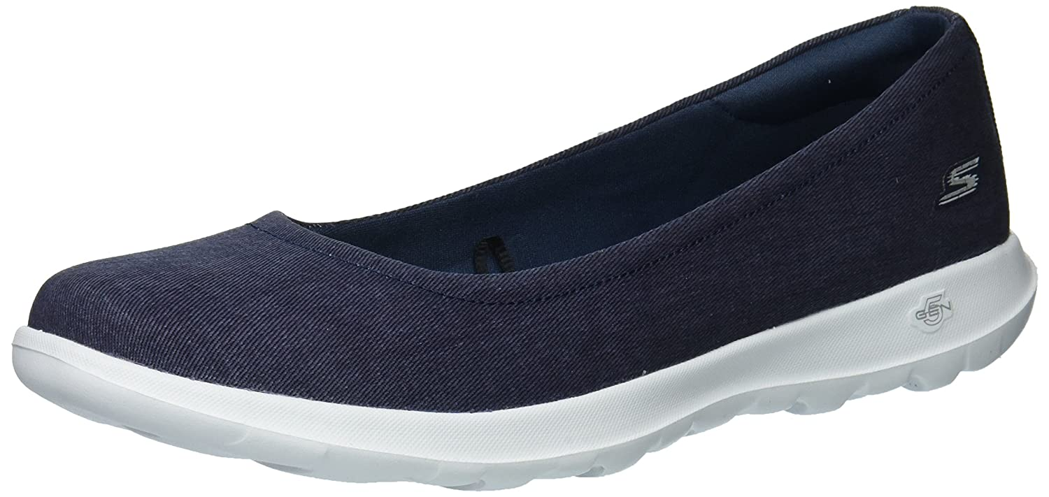 Skechers Damen Go Walk Lite-in Bloom Geschlossene Ballerinas  41 EU|Blau (Denim)