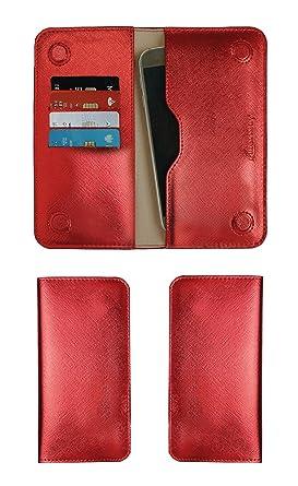 Amazon.com: Emartbuy Metallic Red Textured PU Leather ...