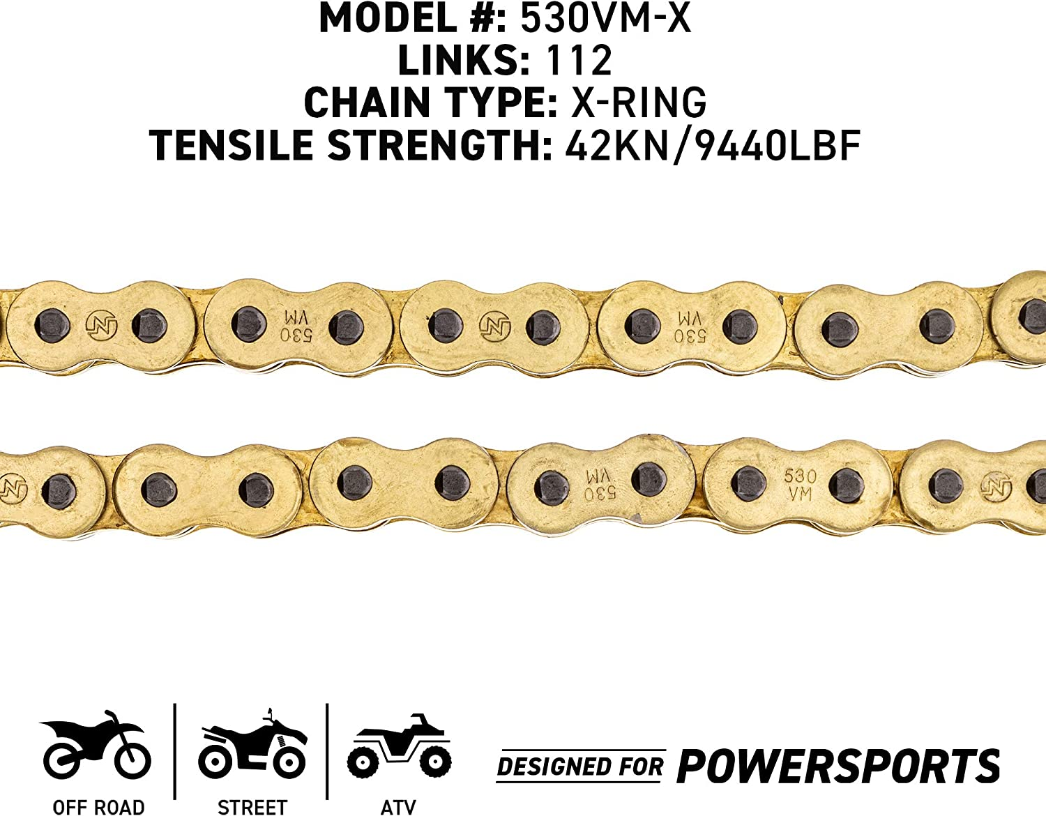 NICHE Drive Sprocket Chain Combo for Suzuki Katana 600 GSX600F Front 14 Rear 45 Tooth 530V O-Ring 112 Links