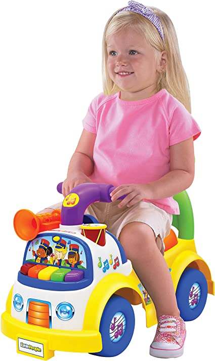 Little People Fisher-Price Music Parade Ride-On, Plays 5 Marching Tunes & Other Sounds! Perfect for Toddler Boys & Girls Ages 1, 2, & 3 Years Old - ...