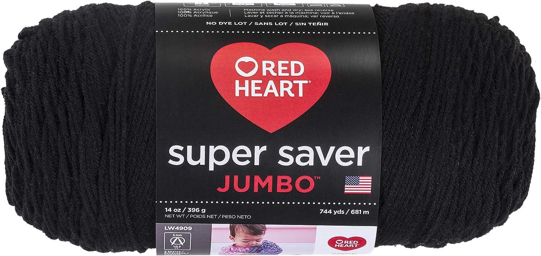 B000XZY8H8 RED HEART E302C.0312 Super Saver Jumbo Yarn, Black 81XXWaRQocL