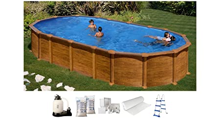 Swimming Pool Kit DREAMPOOL Wood Wooden Decorative 7.3 x ...