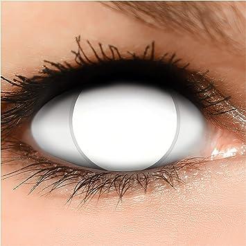 FUNZERA® Lentillas de Colores Blind White + recipiente para lentes ...