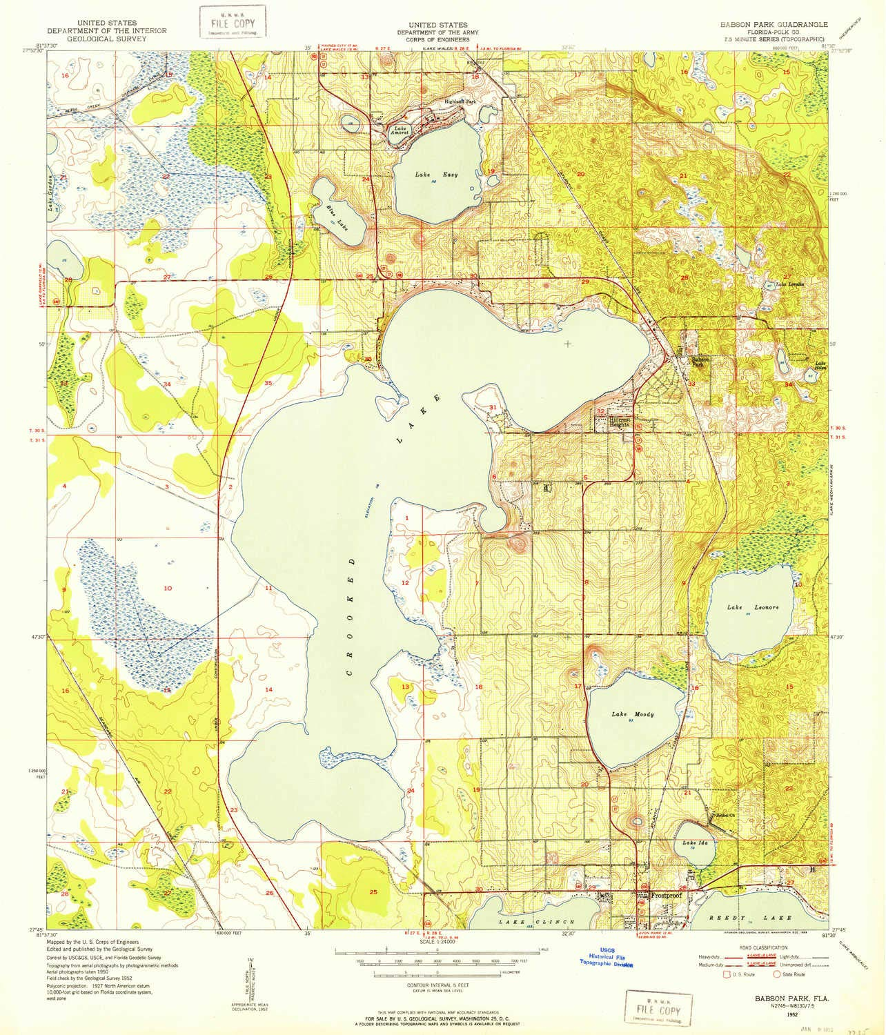Amazon.com : YellowMaps Babson Park FL topo map, 1:24000 Scale, 7.5 ...