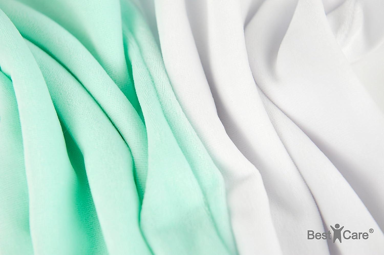 disponible en 4 tailles et 2 couleurs Fabriqu/é en UE Taille:33x30 cm Taie:blanc Taie doreiller pour b/éb/é ovale BestCare/® adapt/ée pour de nombreux mod/èles actuels