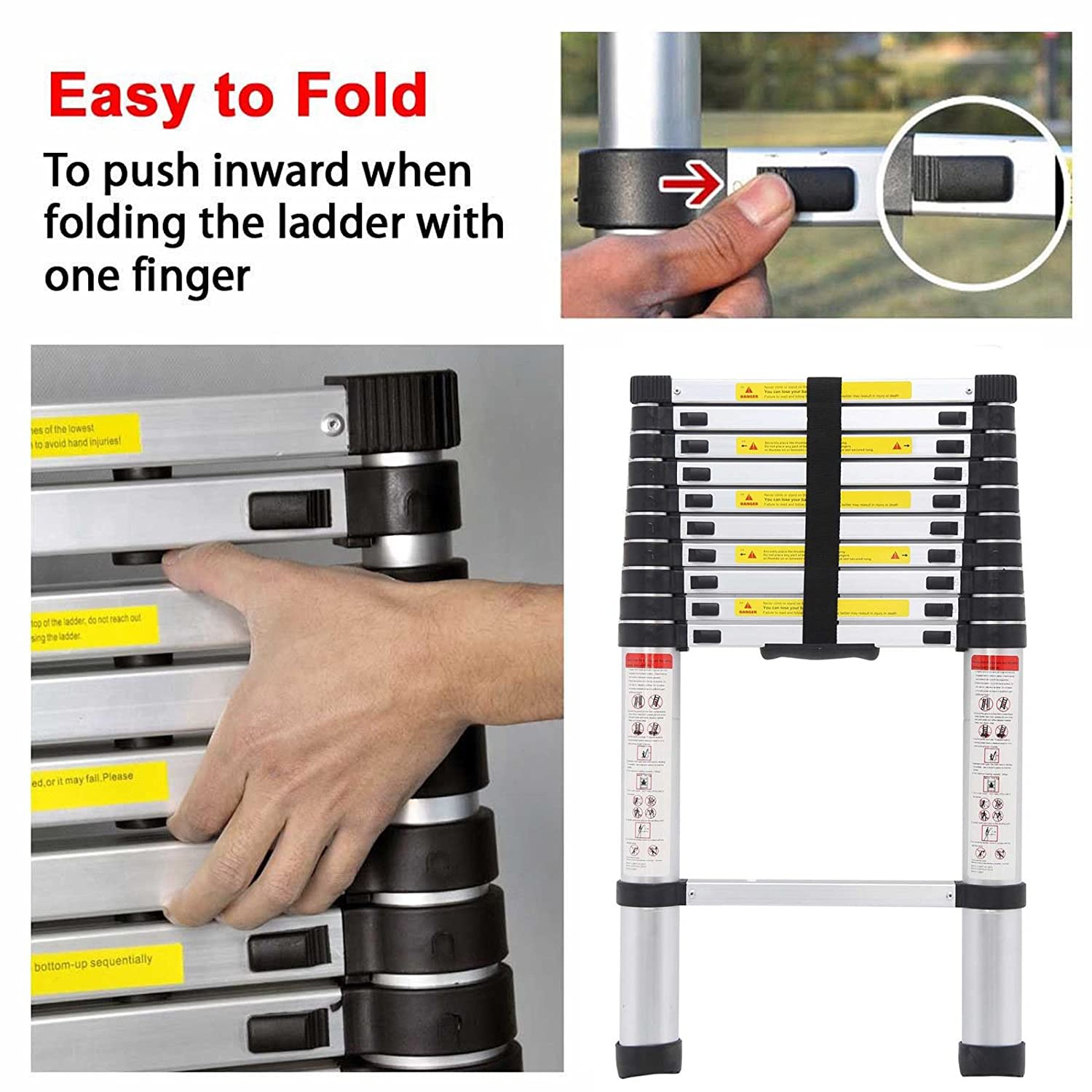 14-in-1 4x4 Aluminium Multi Purpose Folding Extension Ladder 4.7M 15.5FT Heavy Duty Combination Step 1 Painting Tray Manufactured to EN131 Up to 330lbs//150kg ZanGe Factory
