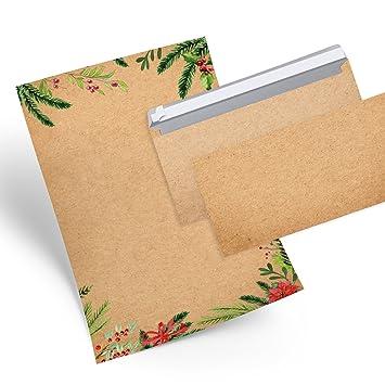 Weihnachtsbriefpapier SANTA 100 Blatt Briefpapier Weihnachten Rot