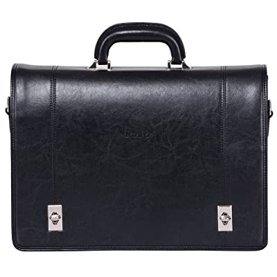 474edf3a2b38 well-wreapped Ronts Men's PU Leather Twist Lock Briefcase Messenger ...