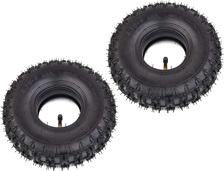 Wingsmoto Reifen Schlauch 4 10 4 410 4 4 10 3 50 4 Für Gartenfräse Schneefräse Gokart Kinder Quad 2 Stück Garten