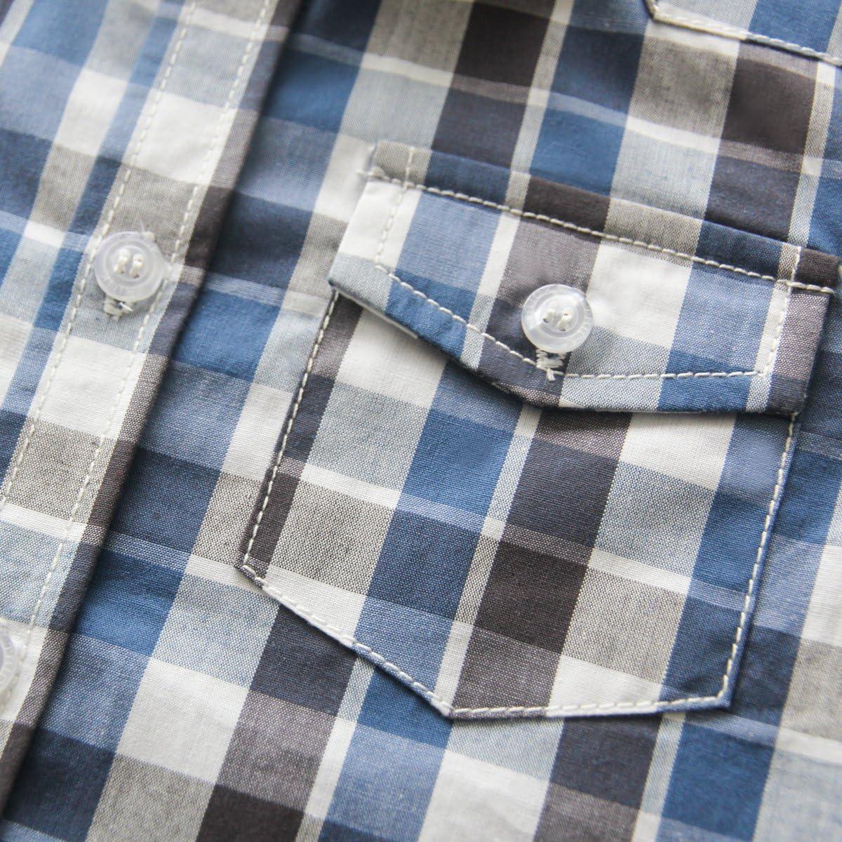 Kanodan Baby Toddler Boys Plaid Button Front Shirt Summer Dress Shirts 2-7