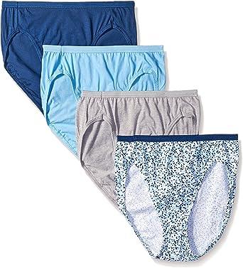 Hanes Mujer 4 Pack Ultimate Hi-Cut Talla 43 KU - Multi Color -: Amazon.es: Ropa y accesorios