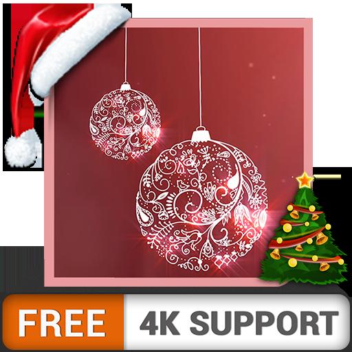 Merry Christmas HD gratis: decora tu habitación con hermosas campanas navideñas con efecto de nieve en invierno en tu televisor HDR 8K 4K y dispositivos de fuego como fondo de pantalla y