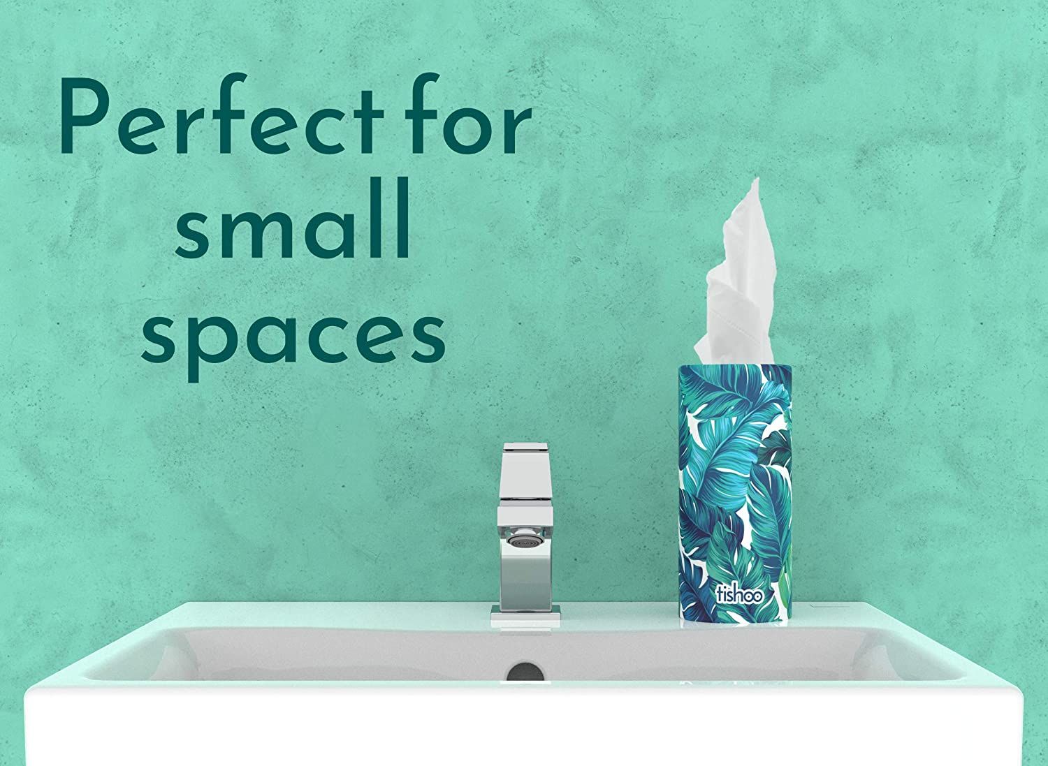 - Green//Leaves tishoo Car Tissue Tubes for Cup Holders /& Home Loose Tubes Stylish /& Compact 4 Tubes in Plastic-Free Packaging Re-useable as a car bin When Empty