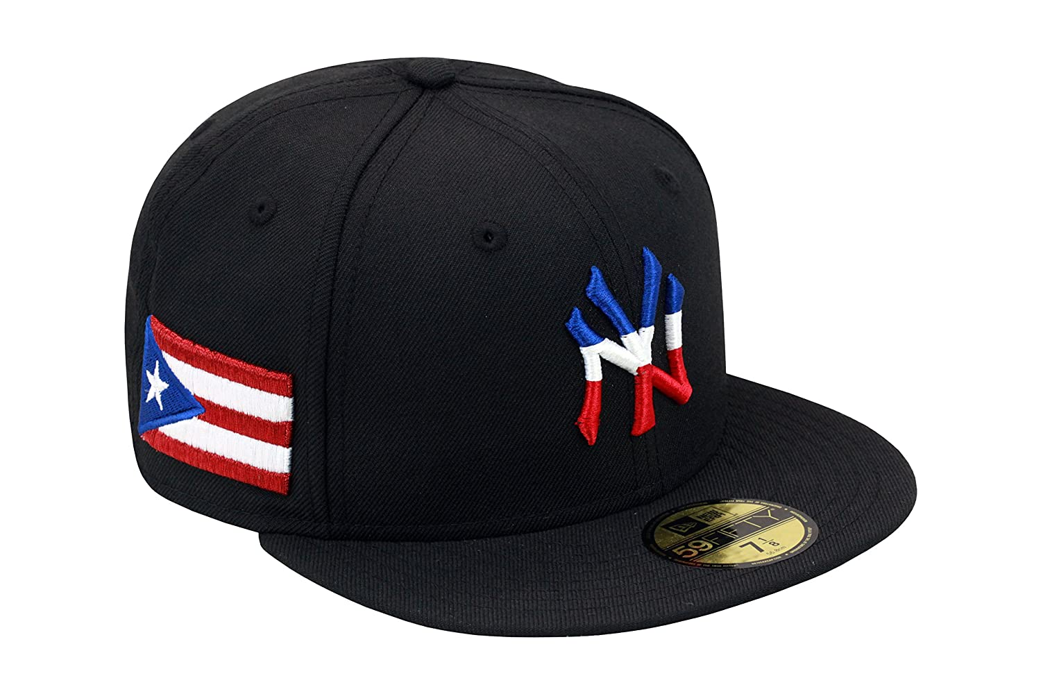 uk availability a6122 fa869 New Era 59fifty New York Yankees Authentic Baseball Fitted Hat Puerto Rico  PR Flag MLB (8)  Amazon.ca  Clothing   Accessories