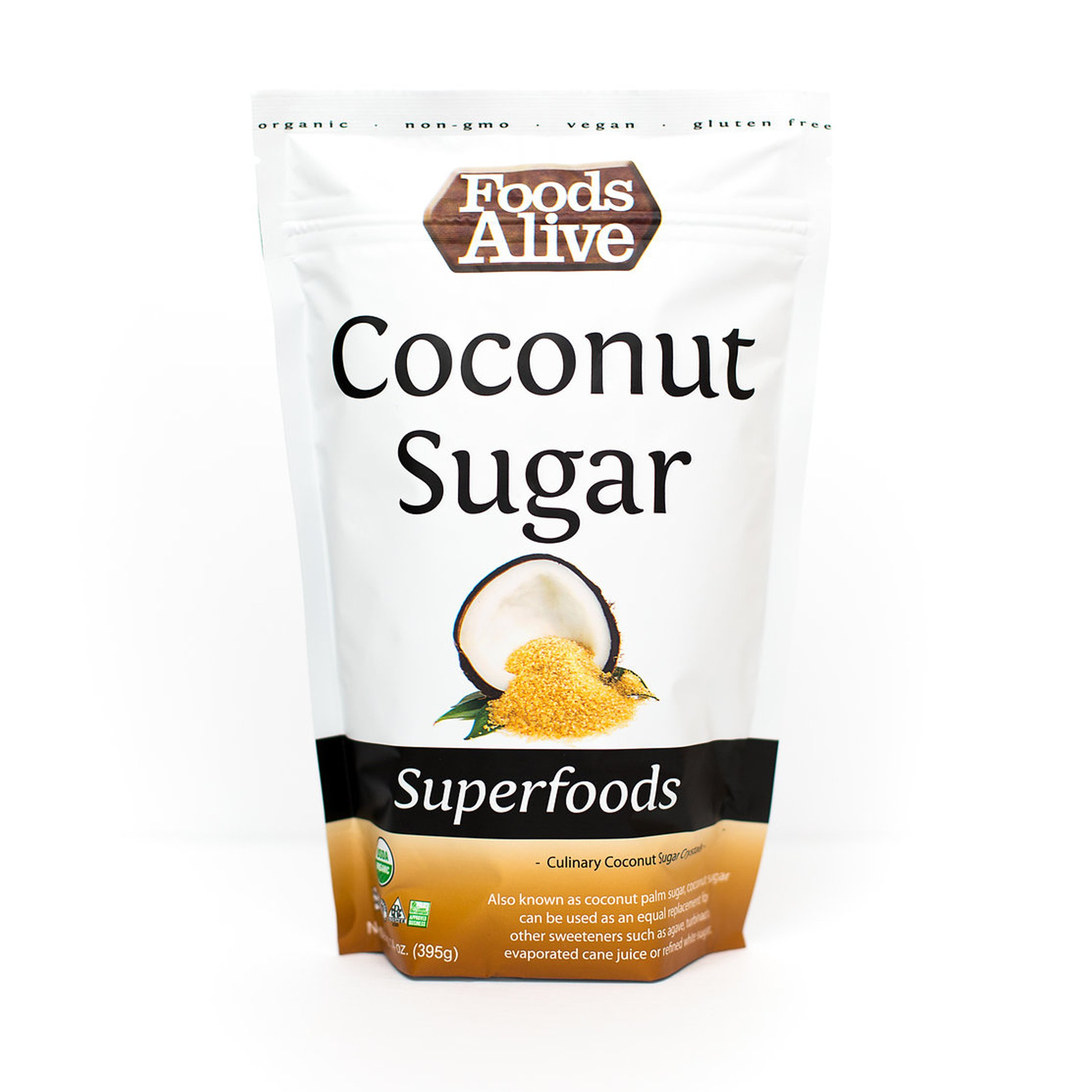 Foods Alive Coconut Sugar Crystals, 14 Ounce