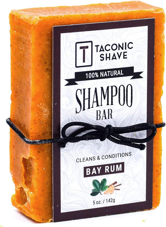 Taconic Shave Bay ron Barra de champú - Todo Natural/Artesanal de - 5.0 Oz.