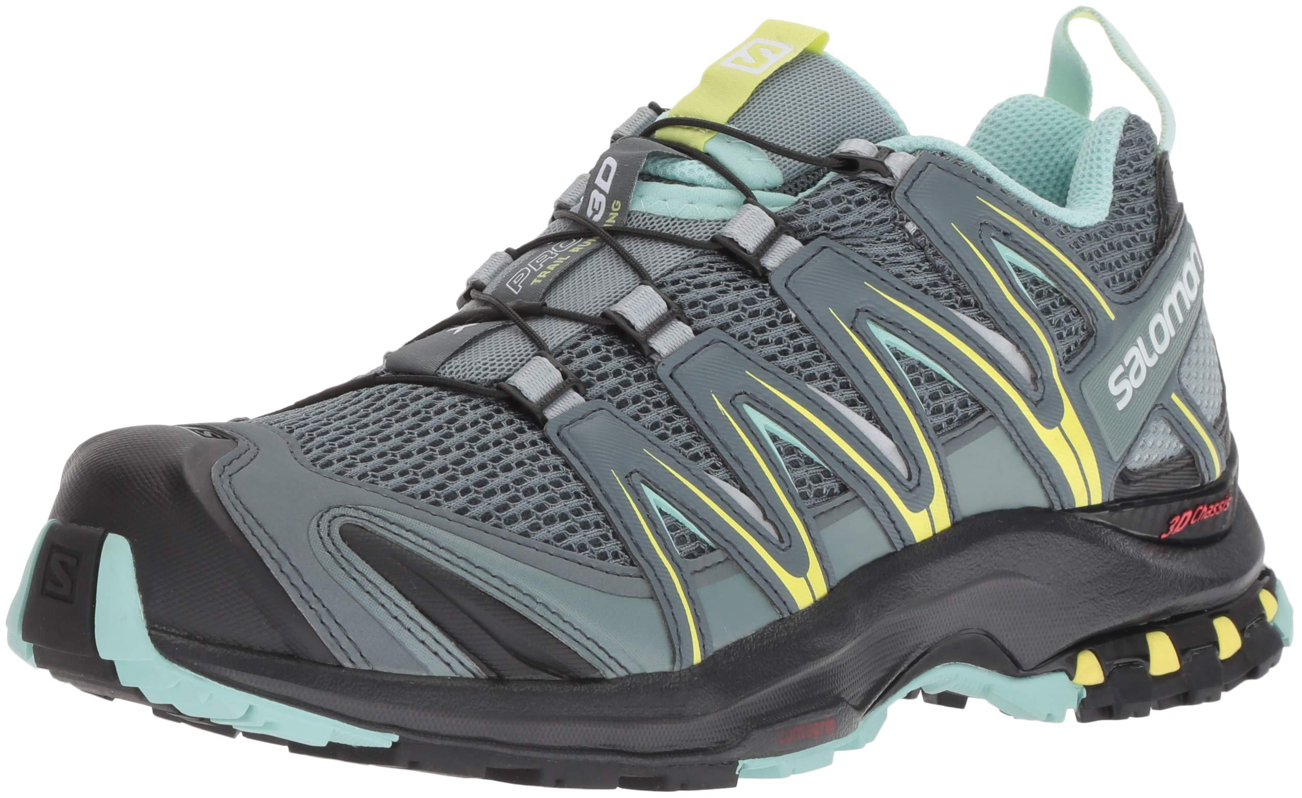 Salomon Women's XA PRO 3D W Trail Running Shoe, Stormy Weather/Lead/Eggshell Blue, 5 M US