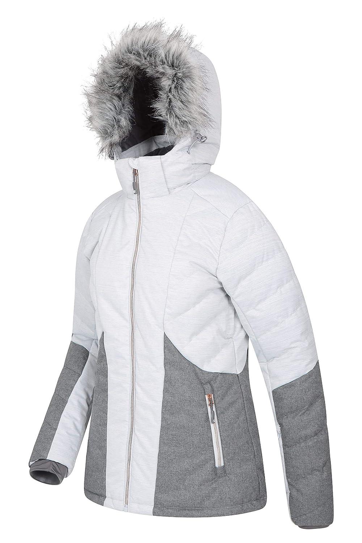Imperm/éable Jupe Pare-Neige d/étachable Capuche et Ourlet Ajustables Mountain Warehouse Veste de Ski matelass/ée Snowflake pour Femme Id/éale pour Le Snowboard