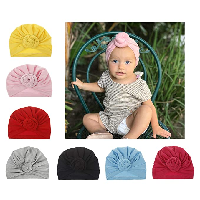 b862e09c9a3 Amazon.com  AKAISIHN Baby Girl Hat Newborn Turbans Headwraps Infant ...