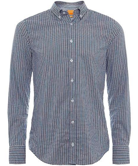 8e0dc3fd BOSS Orange Men's Slim Fit Epreppy Check Shirt XXL Black: Amazon.co.uk:  Clothing