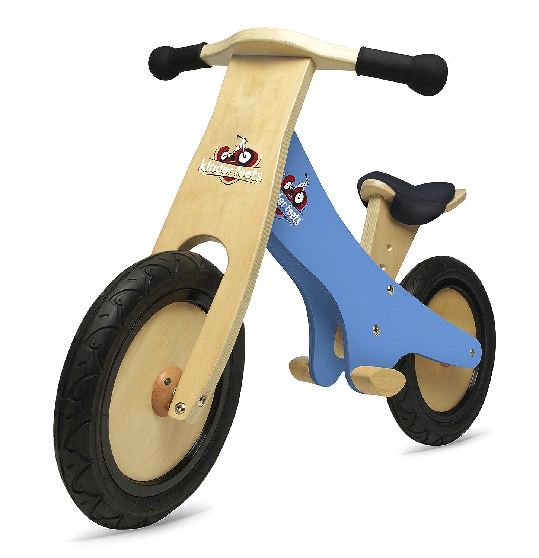 Kinderfeets Wooden Balance Bike Classic Chalkboard, Blue by Kinderfeets Pro-Motion Distributing - Direct KDFKF4.32