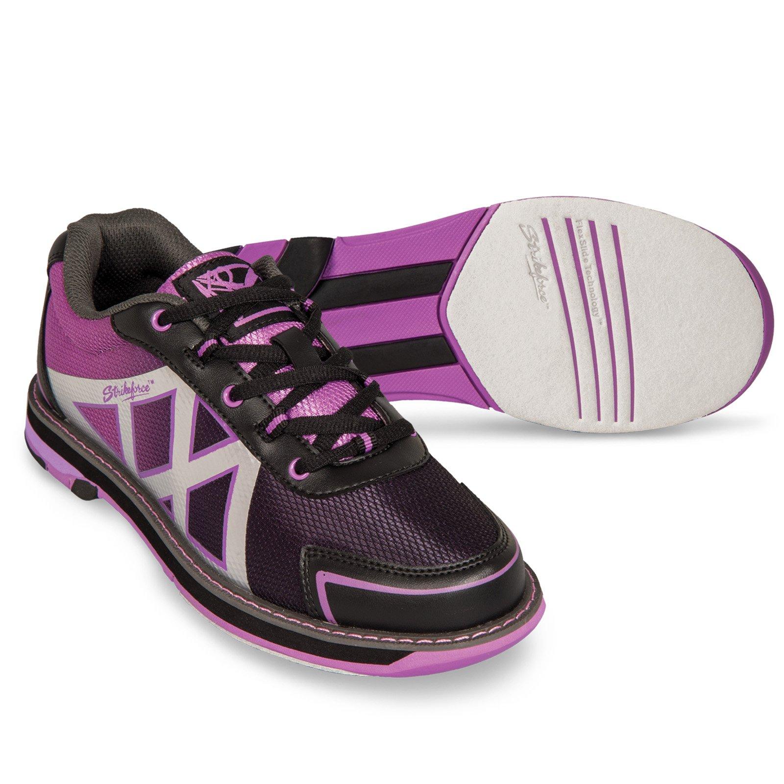 KR Strikeforce Womens Kross Bowling Shoes- Black/Purple (8 1/2 M US, Black/Purple) by KR