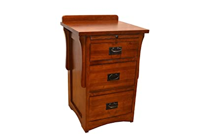 Crafters U0026 Weavers Arts And Crafts Mission Quarter Sawn Oak Three Drawer  Nightstand/Oak End