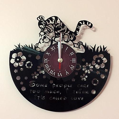 WINNIE THE POOH – Disney Vinyl Record Wall Clock – Kids Room wall decor – Gift ideas for kids, girls, boys, teens – Cartoon Unique Art Design