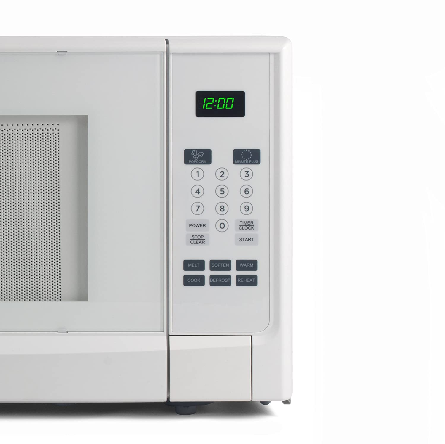 White Cabinet 1.6 Cubic Feet Westinghouse WCM16100W 1000 Watt Counter Top Microwave Oven