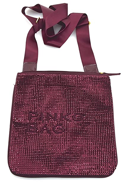 5152ed0c01d05 PINKO WOMAN SHOULDER BAGS VARIOUS COLOR CODE CANCRO 12D0EU ZC02 UNICA - ONE  SIZE BORDEAUX VIOLA ZINFANDEL  Amazon.co.uk  Shoes   Bags