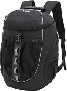 MIER Leakproof Backpack Cooler Men Women Insulated Backpack with Cooler Compartment for Lunch, Hiking, Beach, Picnic, Travel, Work, Multiple Pockets, 20 Can, Black