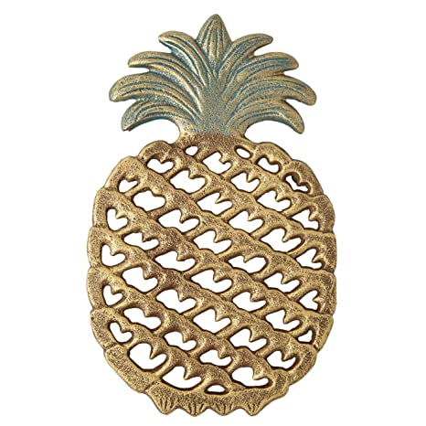 Cast Iron Pineapple Trivet Decorative Cast Iron Trivet For Kitchen Or Dining Table Vintage Rustic Design Protect Your Countertop From Hot