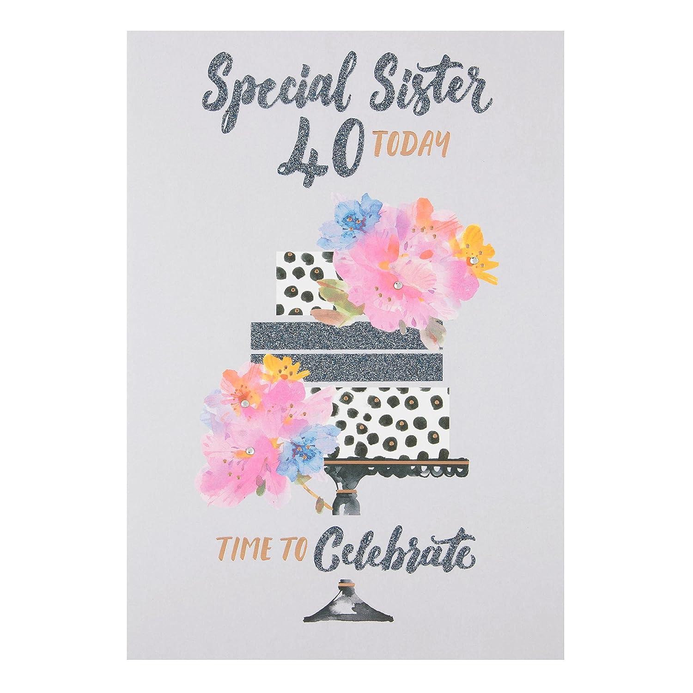 Hallmark Sister 40th Birthday Card Time To Celebrate