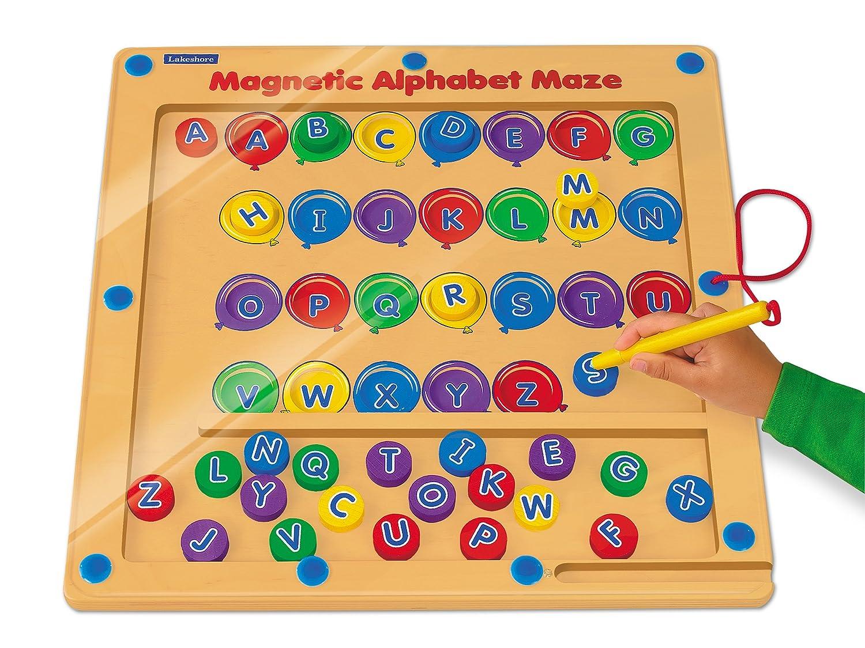 Amazoncom Lakeshore Magnetic Alphabet Maze Toys Games