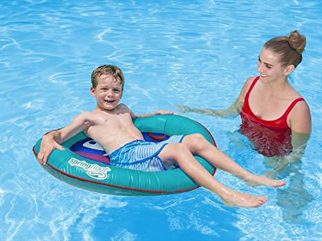 Amazon.com: SwimWays Spring Float Kid\'s Boat, Assorted: Toys & Games