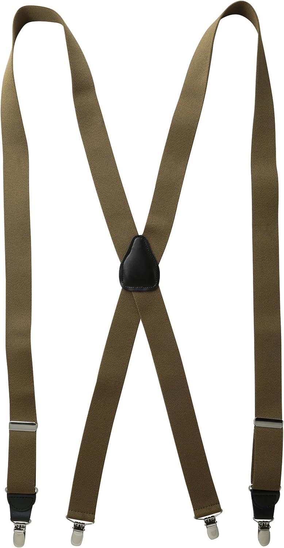 Status Mens Tall Plus Size Suspenders 11//4 Poly Elastic 54 Drop Clip