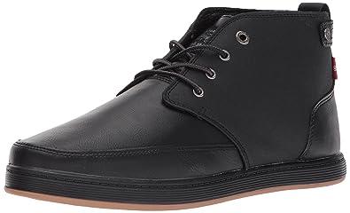 Levis Men's Atwater Burnish Sneaker, Black Mono Chrome, 9 M US