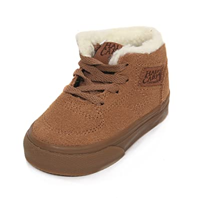 9afbffbb01 Vans Toddler Half Cab Suede   Fleece Lace-Up Trainer Tobacco Brown Size 9   Amazon.co.uk  Shoes   Bags