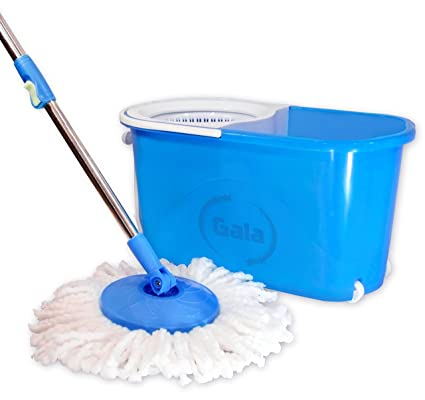 gala e quick spin mop with easy wheels and bucket with 2 refills