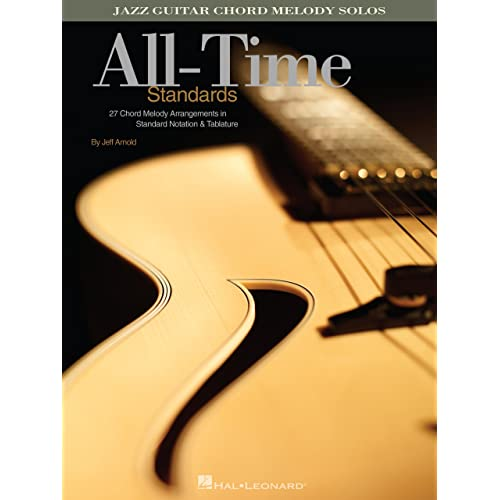 Amazon All Time Standards Songbook Jazz Guitar Chord Melody
