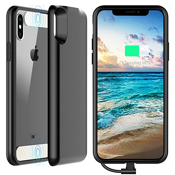 newest 329e5 3197b iPhone X Battery Case with QI Wireless Charging, Vapesoon 3250mAh  Detachable Magnetic Charging Case【QI Wireless Charging & Wired Charging ...