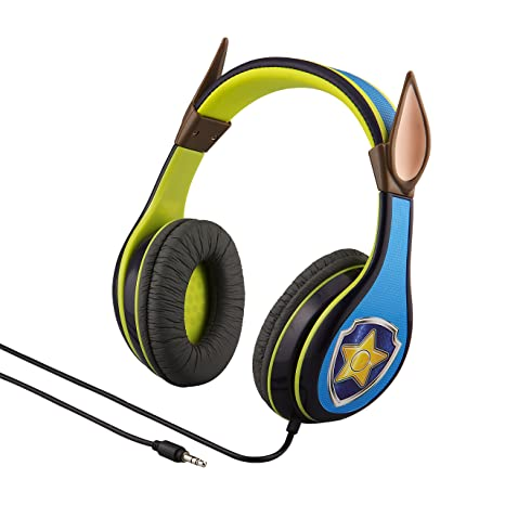Paw Patrol Chase Headphones For Kids With Built In Volume Limiting Feature For Kid Friendly Safe Listening