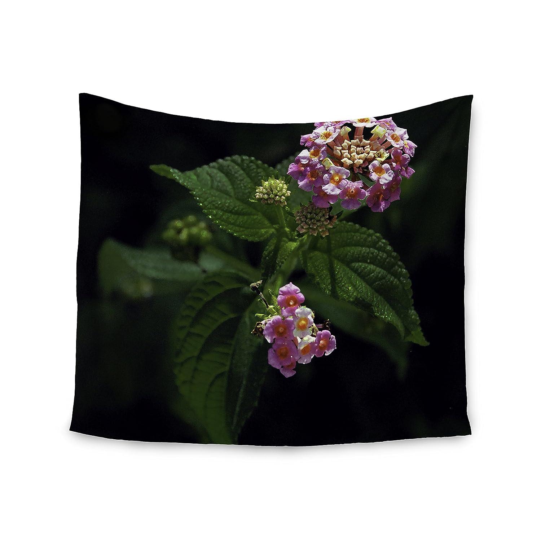 51 x 60 Kess InHouse Nick Nareshni The Lantana Flower Pink Green Wall Tapestry