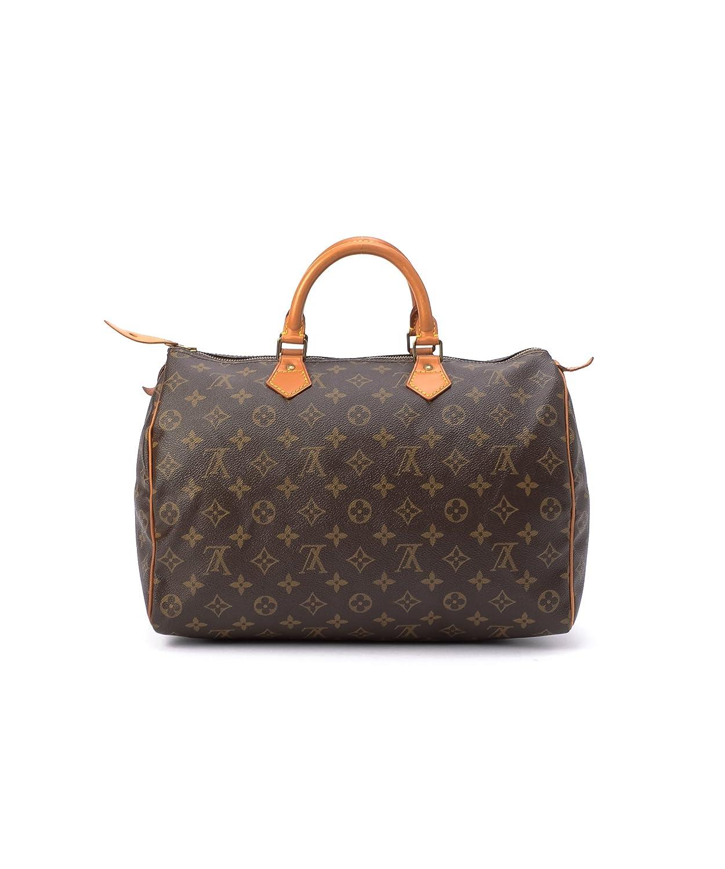 59a5290716a5 Amazon.com  Women s Authentic Louis Vuitton Speedy 35 Brown Monogram  Handbag  Clothing